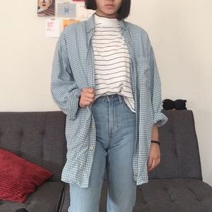Other - Blue checkered flannel